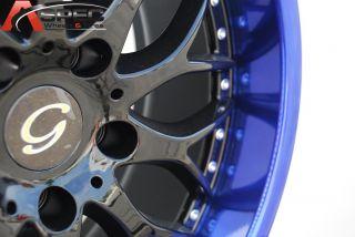 18X8 G LINE G901 WHEEL 5X110 +38 BLACK BLUE RIM FITS MALIBU AURA ASTRA
