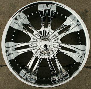 Overlord 523 22 Chrome Rims Wheels Cadillac Escalade 99 Up