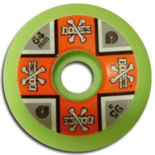 Powell Peralta Cross Bones Skateboard Wheels 64mm 95A Green