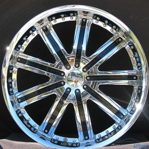 22x8 5 Fusion Chrome Wheels Rims inch DeVille DTS 22