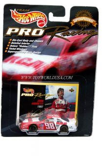 Hot Wheels PRO Racing Superspeedway 1997 #98~RCA~John Andretti Ford