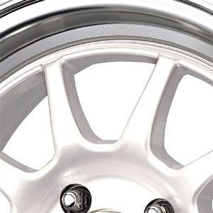 New 15X7 4 100 Dr16 White Machined Lip Wheels/Rims