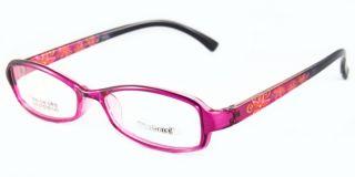 Female Memory Plastic TR 90 105 Eyewear Full Rim Oval Eyeglasses Red