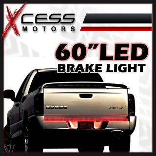 60 LED Tailgate Reverse Turn Signal Tail Brake Light Bar Strip SUV