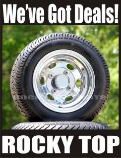 Low Profile Golf Cart Tires and New Aluminum Wheels Set