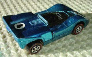 Light Blue McLaren M6A Hot Wheels Red Line Road Racing Toy Car Mattel