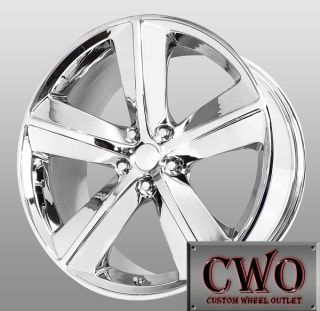 20 Chrome Replica Challenger Wheels 5x115 5 Lug Fits Charger 300 300C