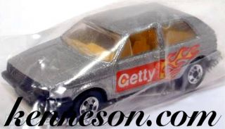 VW Golf Getty Silver Hot Wheels HW 1991 Bag Promotional