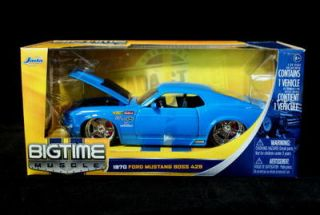 1970 Ford Mustang Boss 429 Bigtime Muscle Diecast 1 24 Lt Blue
