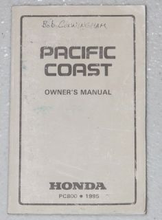 1995 Honda Pacific Coast PC800 Owners Manual PC 800 Motorcycle