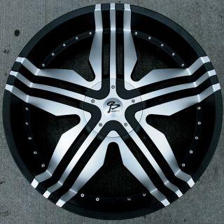 RVM 104 24 Black Rims Wheels Chevrolet Trailblazer