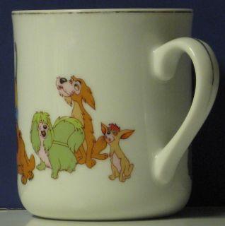 Lady and The Tramp Coffee Mug 1970s Vintage Disneyland Disney World