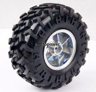 RC Rubber Sponge Tires Tyre Wheel Rim 1 10 Monster Bigfoot Car Truck