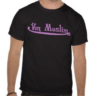 Von Muslim Black T shirt   Pink