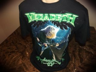 Autographed Dave Mustaine Pacific Rim Endgame Tour Shirt 2009