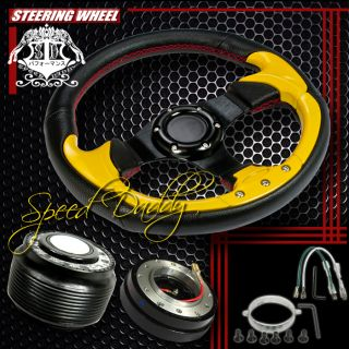 32cm Steering Wheel Hub Quick Release 90 95 Honda Accord Prelude Black