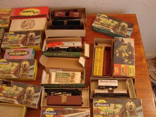 Large Lot Vintage Train Set Kits Parts Track H O Scale