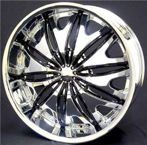 24 inch Rims Wheel Tire Pkg 5x114 3 5x115 5x120 V820
