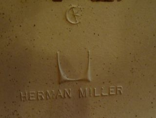 Mid Century Modern Eames Herman Miller Pad Shell Chair Aluminum Iconic