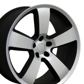 Charger Machined Matte Black Wheels Set of 4 Rims Fits Dodge