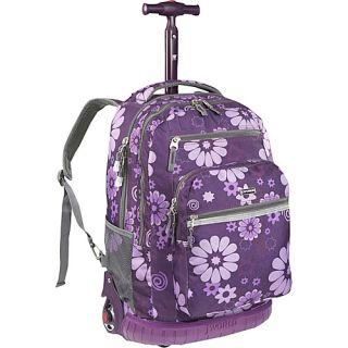 World Sundance Laptop Rolling Backpack Purple