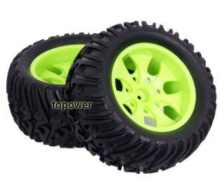 4pcs RC Rubber Sponge Tires Tyre Wheel Rim HSP 1 10 Monster Bigfoot