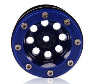 Mud Beadlock Wheels AX10 Wheely King CR01 Blue 4