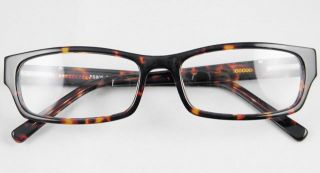Tortoise Silver Mens Womens Plastic Optical Eyeglass Frames Rectangle