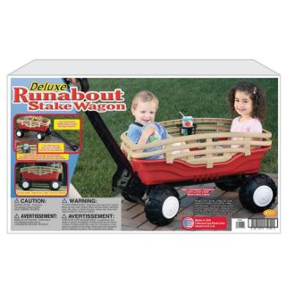 Kids Play American Plastic Toy Deluxe Runabout Stake Wagon Gift