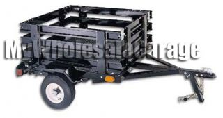 Brand New 3x4 Compact Pull Tow Behind Motorcycle Towing Cargo Trailer