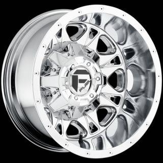 Chrome Fuel Throttle Dually Rear Wheels 8x200  129 FORD F 350 DUALLY