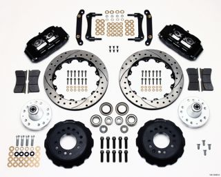 Wilwood Disc Brake Kit 70 78 GM 13 12 Drilled Rotors 6 4 Piston