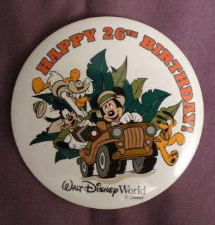 Walt Disney World 26th Birthday Mickey Mouse Donald Duck Goofy Pluto