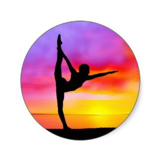 Open space yoga positions sticker