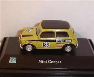 Hongwell Cararama Rally Race Mini Cooper 1 72 HO Scale 136