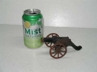 Antique 1895 Mini Cast Iron Toy Soldier Cannon Toy