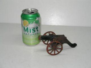 Antique 1895 Mini Cast Iron Toy Soldier Cannon Toy