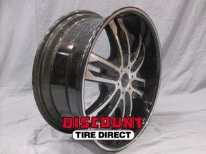 USED 20x8.5 5x139.7 5x127 5 5.5/5 5 Elite Phase Six Black Wheels/Rims