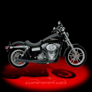 Kerker Supermeg 2 Into 1 Exhaust Systems Black for 2012 2013 Harley