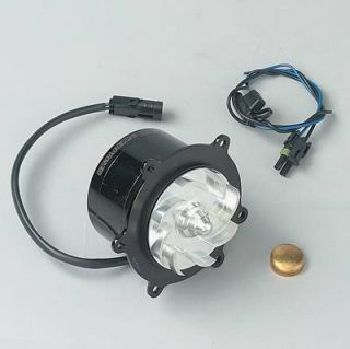 Meziere Water Pump Electric 43 GPM Billet Aluminum Black Anodized SBC