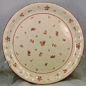 Roseland Dinner Plate Mikasa Pink Purple Flowers Nice