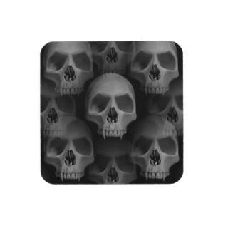 Gothic evil fanged skull Halloween horror Drink Coaster