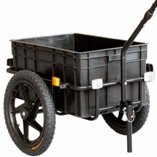 70L Bike Cargo Trailer Luggage Shopping Bicycle Trailer Hand Wagon
