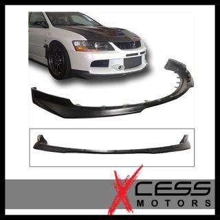 06 07 Mitsubishi EVO 9 IX Black Front Bumper Lip Spoiler Urethane