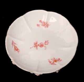 Antique Meissen Porcelain Pink Flower Encrusted Demitasse Cup and