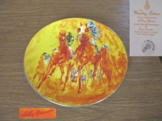 Leroy Neiman Royal Doulton Winning Colors Plate Signed