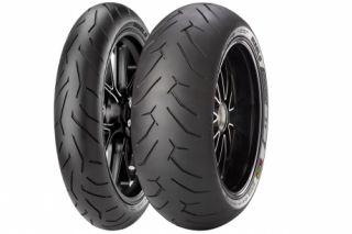Pirelli Diablo Rosso II 2 Front Rear Tire Set 180 55 17 120 70 17 180