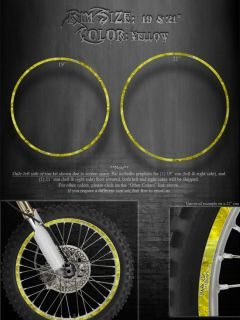 Suzuki Wheel Kit Yellow Rim Graphics 19 21 The Outlaw DRZ400 RM250