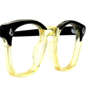 American Optical 2 Tone Horn Rim Vintage Eyeglass Sunglass Modernist