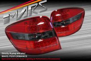 Smoked Red LED Tail Lights Mercedes Benz W164 ML63 ML500 ML350 ML320